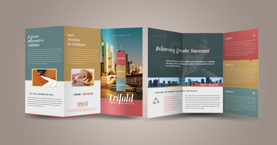 Tri fold and bi fold brochure design suggestions for Two fold brochure design