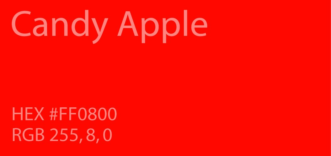 candy apple code html hex rgb