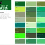24 Shades Of Green Color Palette