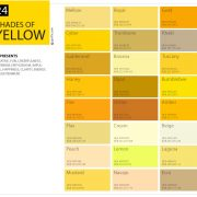 24 Shades Of Yellow Color Palette