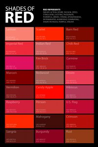shades of red color palette poster