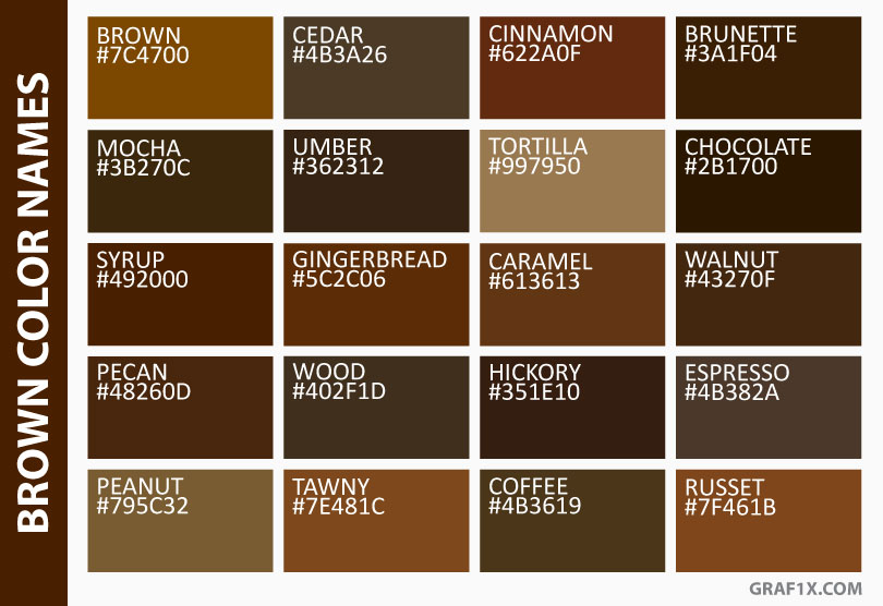 brown color names
