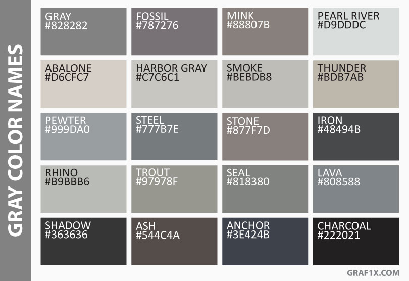 Gray Color Names