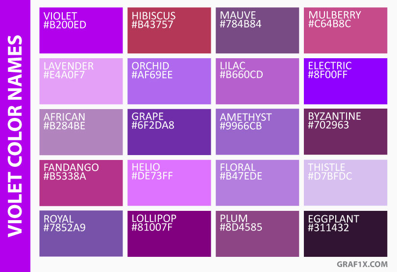 violet color names