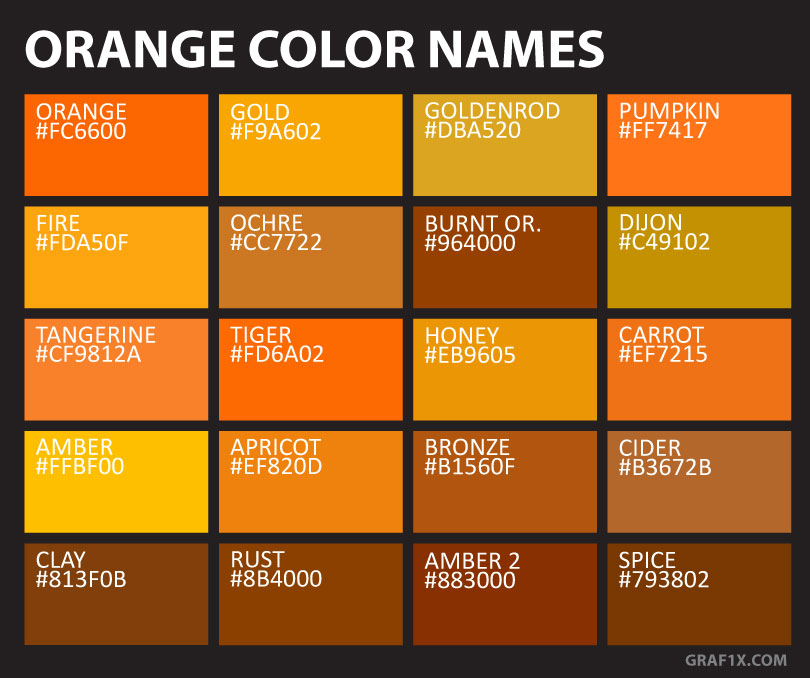 Orange Color Names Graf1x