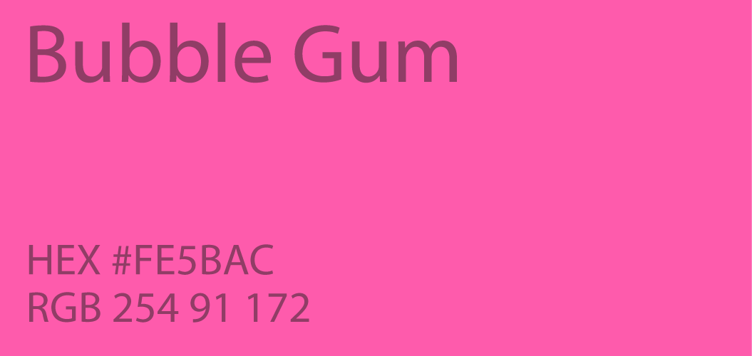 bubble gum color