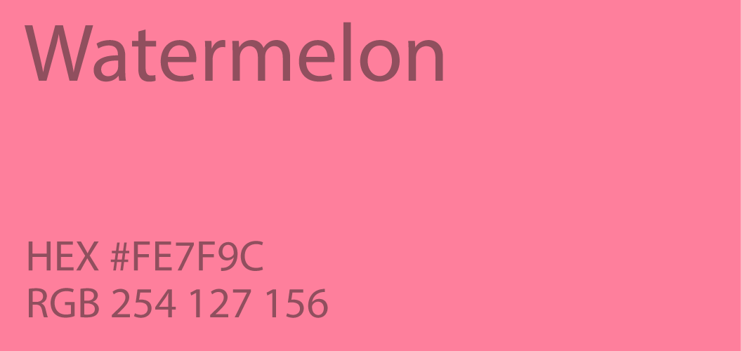 Watermelon Color
