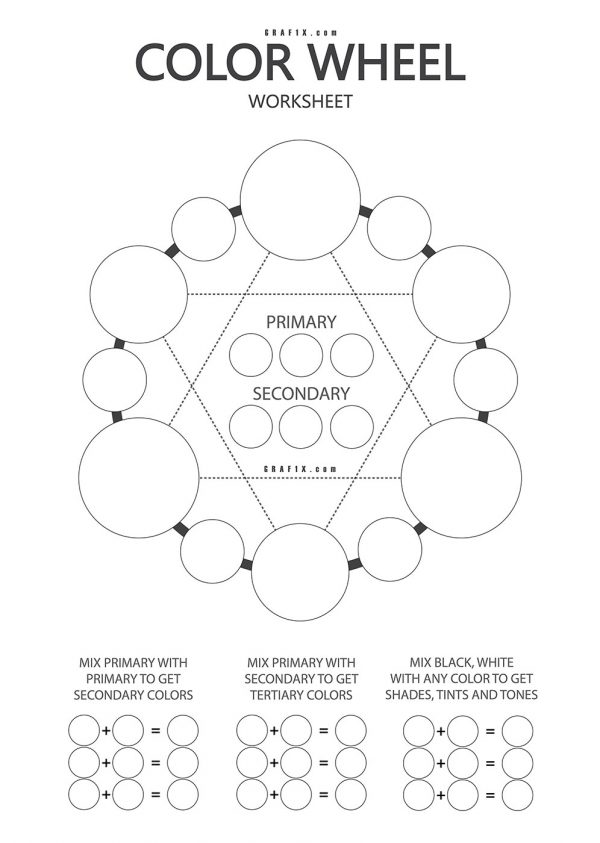 color wheel work sheet