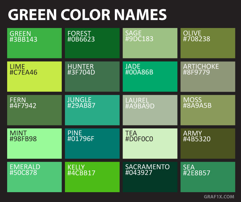 Another name for light green